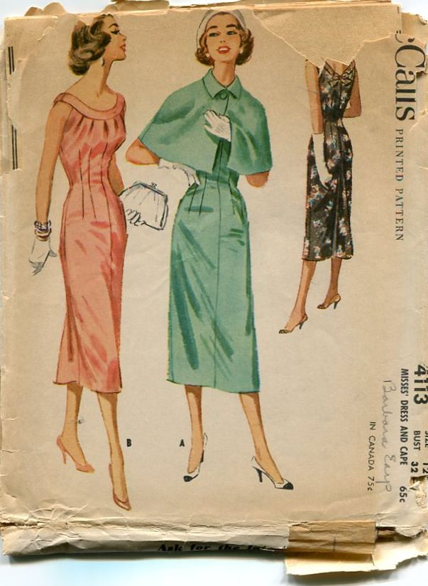 Sew-Retro Vintage Sewing Patterns dress 30s 40s 50s 60s Vogue McCall ...