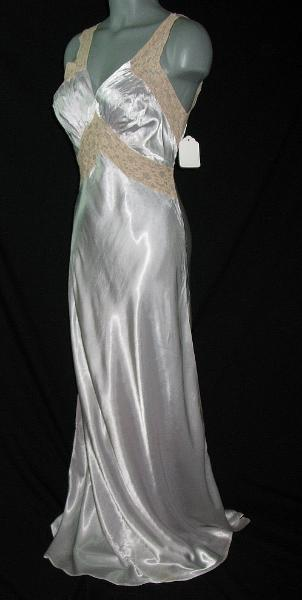 vintage 1930's bias cut gown