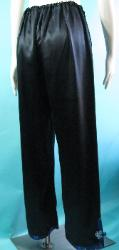 Vintage 40s Black Asian Look Satin Pajama Lounging Pants W 26-30 M L