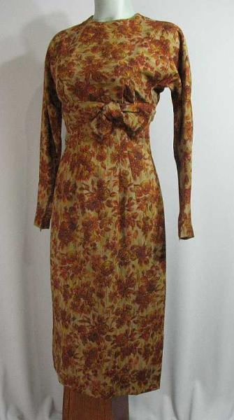 mr. mort vintage 50s floral wiggle dress