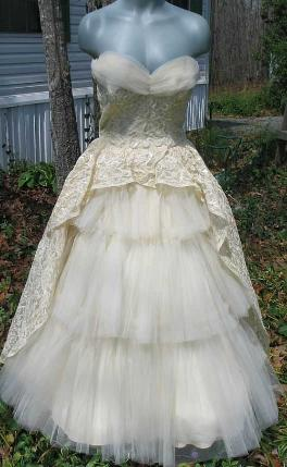 vintage 50's will steinman evening gown prom dress wedding