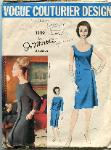 Vintage Vogue 1329 couturier design dress pattern 1960's
