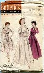 butterick 7053 fit and flare robe 1950s