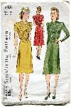 simplicity 3431 vintage 40's shirtwaist dress