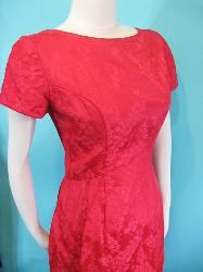 vintage 60s emma domb prom dress evening gown red